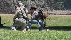 Civil War Renactment. Summer 2013,roaring camp, Santa cruz stock video footage