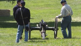 Civil War Renactment. Summer 2013,roaring camp, Santa cruz stock footage