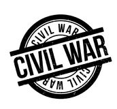 Civil War rubber stamp. Grunge design with dust scratches. Effects can be easily removed for a clean, crisp look. Color is easily changed Royalty Free Stock Images