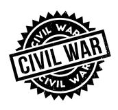 Civil War rubber stamp. Grunge design with dust scratches. Effects can be easily removed for a clean, crisp look. Color is easily changed Stock Photos