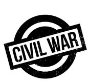 Civil War rubber stamp. Grunge design with dust scratches. Effects can be easily removed for a clean, crisp look. Color is easily changed Royalty Free Stock Photos