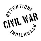 Civil War rubber stamp. Grunge design with dust scratches. Effects can be easily removed for a clean, crisp look. Color is easily changed Royalty Free Stock Photography