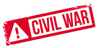Civil War rubber stamp. Grunge design with dust scratches. Effects can be easily removed for a clean, crisp look. Color is easily changed Stock Image