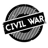 Civil War rubber stamp. Grunge design with dust scratches. Effects can be easily removed for a clean, crisp look. Color is easily changed Royalty Free Stock Image
