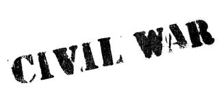 Civil War rubber stamp. Grunge design with dust scratches. Effects can be easily removed for a clean, crisp look. Color is easily changed Stock Photo