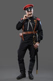 Civil War in Russia, Russian Civil War 1918-1922, White Guard, C. Aptain of General Kornilov (Korniloff) Assault Regiment Royalty Free Stock Photography