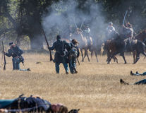 Civil War Skirmish Royalty Free Stock Photography