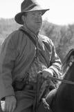 Civil War Soldier on Horseback Royalty Free Stock Photo