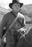 Civil War Soldier on Horseback Stock Photo