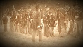 Civil war soldiers regrouping (Archive Footage Version) stock video