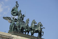 Civil War Statue. Quadriga: the Triumphal Progress of Columbia statue at the Grand Army Plaza, Brooklyn Stock Photo