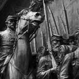 Civil war statue Royalty Free Stock Photography