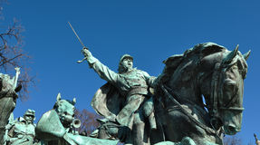 Civil War Statue. In Washington DC royalty free stock images