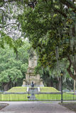 Civil War Statues in Forsythe Park Royalty Free Stock Photography