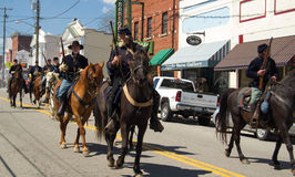 Civil War Street Skirmish Stock Image