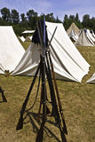 Civil War Tents and Rifles Royalty Free Stock Image
