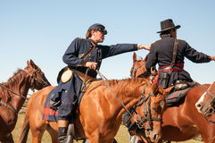 Civil War Union officers on horseback Royalty Free Stock Images