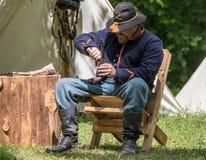 Civil War Union Soldier Stock Photos