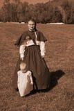 Civil War Woman and Child Stock Photos