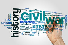 Civil war word cloud concept on grey background Royalty Free Stock Image
