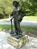 Civilian Conservation Corps Iron Mike Statue royalty free stock photos