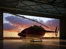 Civilian Helicopter Stock Photo