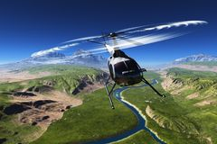Civilian helicopter royalty free stock photos