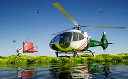 Civilian helicopter Stock Images