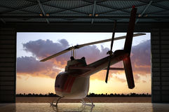 Civilian helicopter Stock Photos