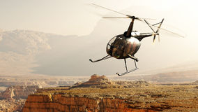 Civilian helicopter Royalty Free Stock Images