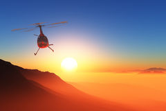 Civilian helicopter Royalty Free Stock Photography
