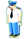 Civilian Pilot. Personage on the white Royalty Free Stock Image