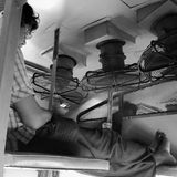 Civilian railway carriage in Mysore of India Stock Photo