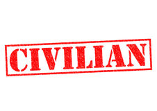 CIVILIAN. Red Rubber Stamp over a white background Stock Photography
