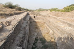 Civilisation de Dholavira Harappa photographie stock