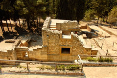 Civilization of Knossos. Palace ruins which are found during excavation on the island of Crete Stock Images