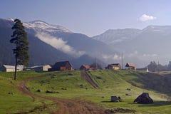 Civilizzazione nelle montagne Fotografia Stock Libera da Diritti
