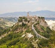 civita小山城镇翁布里亚 免版税库存照片