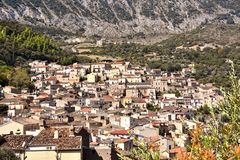 Civita, albanian community in Calabria. Civita an albanian , arberesh, community in Calabria was founded in the 15th century. The mountain village is part of the royalty free stock image