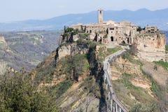 Civita av Bagnoregio Arkivfoto