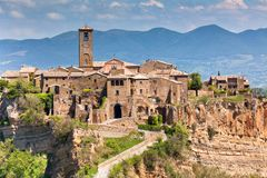 Civita di Bagnoregio, Италия Стоковые Фото