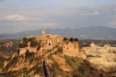 Civita di Bagnoregio. A nice shot of Civita di Bagnoregio - the dying town Royalty Free Stock Photos