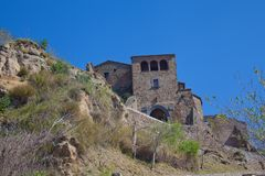 Civita di Bagnoregio closest view from the main access.  royalty free stock photography