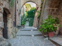 Civita di Bagnoregio, den berömda `en som dör stads` i det Viterbo landskapet, Lazio Italien fotografering för bildbyråer