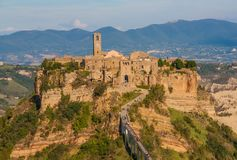 Civita di Bagnoregio, the Dying Town stock images