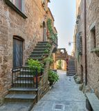 Civita di Bagnoregio, the famous `dying city` in Viterbo Province, Lazio Italy. stock photos