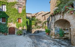 Civita di Bagnoregio, the famous `dying city` in Viterbo Province, Lazio Italy. royalty free stock photo