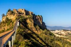 Civita di Bagnoregio, hilltown i Italien Royaltyfria Foton