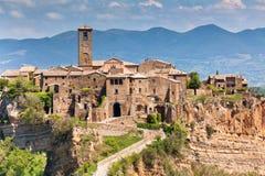 Civita Di Bagnoregio, Italië Stock Foto's