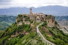 Civita di Bagnoregio, Italie - panorama Images libres de droits